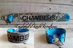Name tape bracelet. See this and many other samples in our Etsy shop.**Items ship within 2 business days of ordering.** Enter coupon code: PIN10 at checkout to receive 10% of your entire purchase. Follow us on Twitter at: twitter.com @englandskk