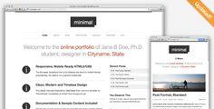 Minimal WordPress Portfolio  -  https://themekeeper.com/item/wordpress/minimal-wordpress-portfolio