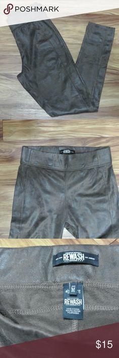 Brown Skinny Pants Brown Skinny Pants, Size Medium 93% Polyester, 7% Spandex (not very stretchy) Rewash Pants Skinny