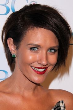 asymmetric short layered hairstyle
