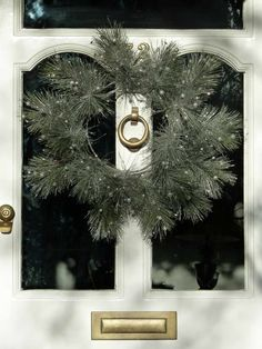 Silver sparkle for a 2012 Christmas wreath, last year gold was the favourite choice.