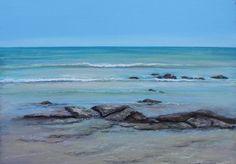 Ann Steer - Early Morning Cable Beach - Ocean - Beach - Sea - Painting - Water