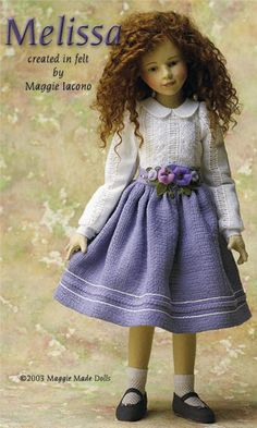 Melissa 16.5 Inch Tall Felt Doll Edition Size: 70 Created in 2003