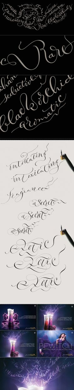 Calligraphy for LUX. by Marina Marjina, via Behance