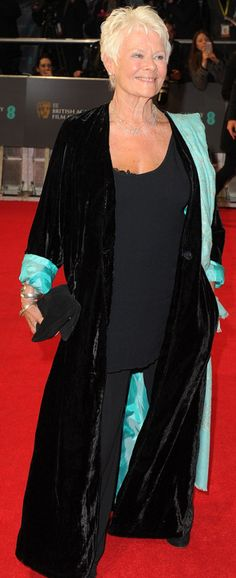 Dame Judi Dench at the BAFTAS AWARDS 2014
