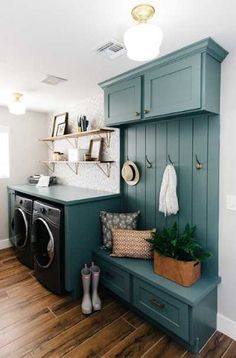"""Visit our internet site for more details on """"laundry room storage diy shelves"""". It is a superb area to learn more. Tiny Laundry Rooms, Mudroom Laundry Room, Laundry Room Layouts, Laundry Room Remodel, Farmhouse Laundry Room, Laundry Room Organization, Laundry Room Design, Mud Rooms, Vintage Laundry Rooms"""