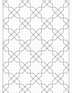 I like this would make a great design on papr for a poster Blackwork Patterns, Blackwork Embroidery, Paper Embroidery, Embroidery Patterns, Graph Paper Drawings, Graph Paper Art, Islamic Art Pattern, Pattern Art, Mosaic Patterns
