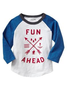 Fun graphic raglan tee Product Image