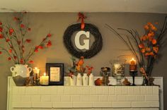 Mantel  Decorations : IDEAS & INSPIRATIONS : Decorate Your Mantel For Fall