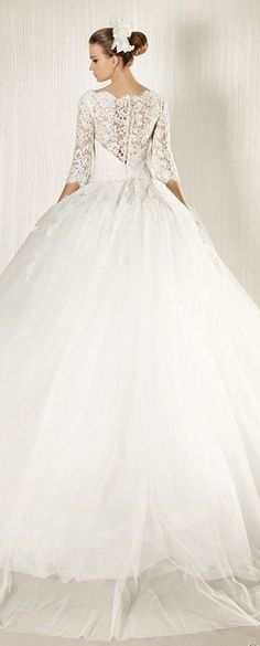 wedding dress by George Hobeika - If I had decided to do a big ball gown I would've done something like this...very southern belle!