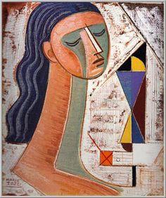 Mario Tozzi 1971: Testa di Donna. Olio su tela cm.55,5x46,5 - Collezione Privata San Paolo (Brasile) - Archivio numero 800 - Catalogo numero 71/95.