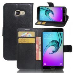 Samsung Galaxy A3 2017 musta puhelinlompakko.