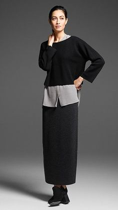 EILEEN FISHER: Our fashion inspiration, perfect to pair up with our #minimalistjewelry #minimalistjewellery #minimalist #jewellery #jewelry #jewelleries #jewelries #minimalistaccessories #bangles #bracelets #rings #necklace #earrings #choker #womensaccessories #accessories