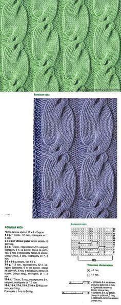 узор-змейка | Knitting | Узоры, Узоры для вязания и Вязание