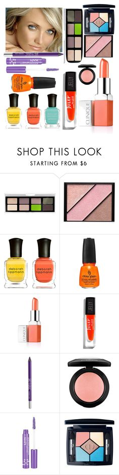 """""""LIGHT SPRING BEAUTY"""" by clairecoloursme ❤ liked on Polyvore featuring beauty, Butter London, Elizabeth Arden, Deborah Lippmann, China Glaze, Clinique, Julep, Urban Decay, MAC Cosmetics and NYX"""