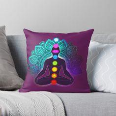 'Chakra meditation and energy body yoga hindi' Throw Pillow by StefaniaAlina Peaceful Bedroom, Chakra Meditation, Spare Room, Room Ideas, My Arts, Yoga, Throw Pillows, Art Prints, Printed