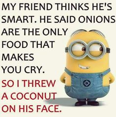 Minions are mean Funny Minion Pictures, Funny Minion Memes, Funny School Jokes, Funny Disney Memes, Funny Jokes, Really Funny Memes, Crazy Funny Memes, Haha Funny, Funny Facts