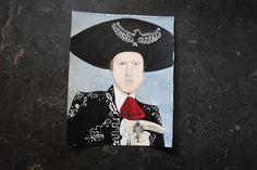 DUSTY BOTTOMS - Three Amigos original watercolor illustration by jillpetersenart on Etsy