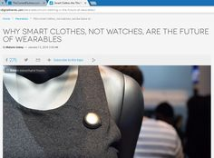 """Smart Clothes Are The Future of Wearables 