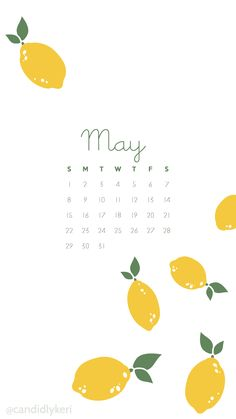 Lemon and white may 2016 calendar wallpaper free download for iPhone android or desktop background on the blog!