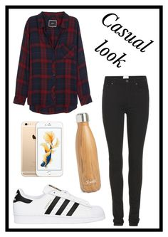 """#385 casual look"" by xjet1998x ❤ liked on Polyvore featuring Rails, Acne Studios, adidas Originals and S'well"