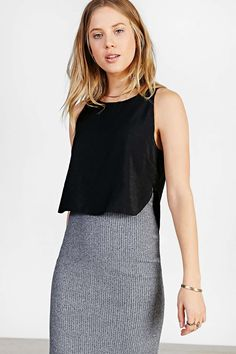Silence + Noise Cropped Shell Tank Top #UrbanOutfitters