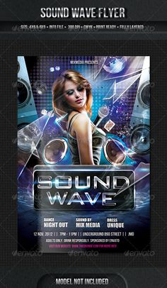 Sound Wave Flyer Template  #GraphicRiver         Sound Blast Flyer Template   Each object is separately layered so you can adjust as you wish.   Download file includes    1 PSD File  JPG Preview  Help File   Links to photo and fonts are available in the download file.   FLYERS                                                                           More items by mixmedia87       Created: 23October12 GraphicsFilesIncluded: TransparentPNG #LayeredPNG #JPGImage Layered: Yes…
