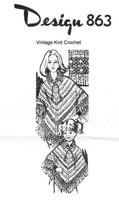 Vintage Mail Order Women/'s Lovely Knitted Cape  Knitting pattern # 746