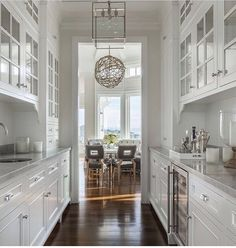 WEBSTA @ Archdigest   A Traditional Butleru0027s Pantry Is Tucked Behind The  Main Kitchen Of This Glamorous California Home By Providing Extra Space To  Prep For ...
