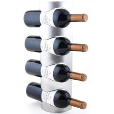 Free Shipping Stainless Steel Wall Mounted Wine Rack Iron Decorative Wall mounted Wine Racks-4 Bottle wine Rack(33-4)