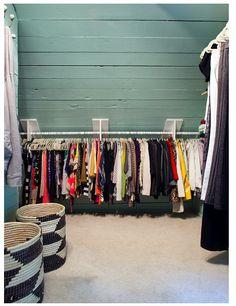 Spectacular Attic renovation tips,Attic bedroom remodel and Attic storage blown insulation. Attic Closet, Closet Rod, Closet Bedroom, Closet Space, Upstairs Bedroom, Slanted Walls, Slanted Ceiling, Attic Renovation, Attic Remodel