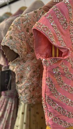 Half Saree Designs, Silk Saree Blouse Designs, Saree Blouse Patterns, Fancy Blouse Designs, Bridal Blouse Designs, Lehenga Designs, Zardozi Embroidery, Hand Work Embroidery, Gala Design
