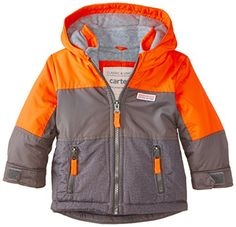 Carters Baby Boys Infants Heavyweight Single Jacket Orange 24 Months *** Details can be found by clicking on the image.