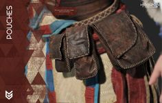 Aloy, female character from the game Horizon Zero Dawn (Guerrilla Games), cosplay guide, pouches
