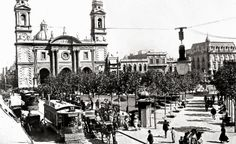 MONTEVIDEO ANTIGUO , PLAZA MATRIZ CON LA CATEDRAL +++