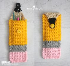 Crochet Pencil Pouch - Free Crochet Pattern - (yarnspirations)