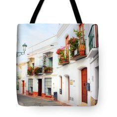 Tote Bags - Sleepy Spain Tote Bag by Nadia Sanowar