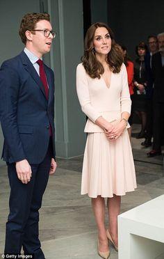 Kate had a thorough tour of the artworks