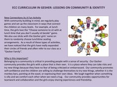 ECC CURRICULUM IN GESHER: LESSONS IN COMMUNITY & IDENTITY (Part 3 - Expanding our Circle of Friends)