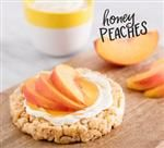 Honey Peaches Rice Cake #ricecake #peaches #healthy #snack #recipe