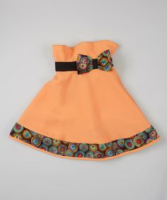 Another great find on #zulily! Orange Floral Trim Skirt - Infant, Toddler & Girls by Little Miss Fashion #zulilyfinds