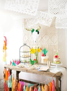 Colorful Fiesta First Birthday Party. I love the bright colors and southwest vibe of this birthday party. The theme would work for kids birthdays or adult birthday parties or showers. Adult Birthday Party, First Birthday Parties, Birthday Party Themes, First Birthdays, Birthday Ideas, Birthday Themes For Adults, Colorful Birthday Party, Llama Birthday, Colorful Party