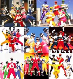 First 10 years of Power Rangers (Mighty Morphin, Zeo, Turbo, In Space, Lost Galaxy, Lightspeed Rescue, Time Force, Wild Force)