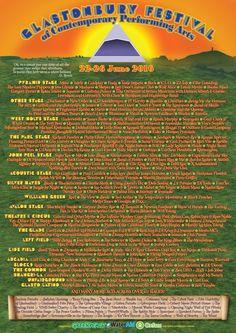 The full Glastonbury Festival 'Glasto' 2016 line-up poster is here!