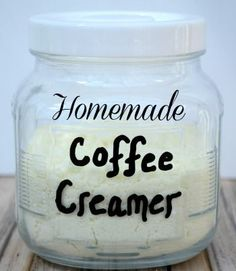 Homemade Coffee Creamer  1 Cup Powdered Milk  1/3 Cup Powdered Sugar  1 TBSP melted coconut oil  If you like more flavored creamer then you can add a teaspoon of powdered vanilla or cocoa powder too :-)  This stuff is great!