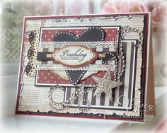 Birthday card by Andrea Ewen using Verve Stamps.