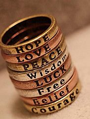 anel retro mínima carta desejo das mulheres eur... – BRL R$ 3,39