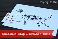 Simple number recognition game for puppy lovers and firemen fans. {Playdough to Plato}