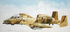 A-10A of the 917th TFS in one-of-a-kind desert camouflage,