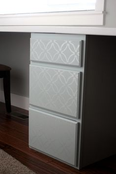 DYI Stenciled Cabinet